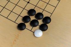 Преграженный белый камень в игре Стоковые Изображения