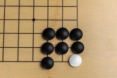 Преграженный камень в игре ИДТИ Стоковое Изображение RF