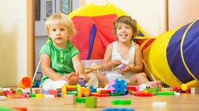 преграждает играть детей Стоковое фото RF