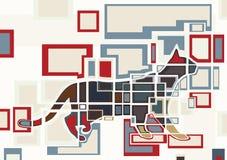 преграждает кота Стоковые Изображения RF