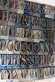 преграждает тип letterpress Стоковое Изображение