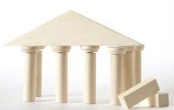 преграждает древесину игрушки конструктора естественную Стоковые Фото