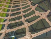 Предел веревочки в парке приключения Стоковое Изображение RF