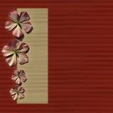 предкрылок красного цвета домашней страницы предпосылки флористический Стоковое Изображение RF