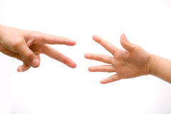 предлагать руки помогая Стоковая Фотография RF