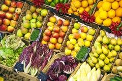 предложенный рынок еды свежий Стоковые Фотографии RF