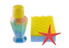 предметы ванны цветастые Стоковые Фотографии RF