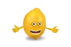 предметы лимона шаржа над белизной бесплатная иллюстрация