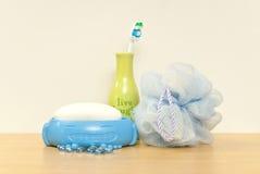 предметы первой необходимости детей ванны Стоковое фото RF