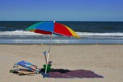 предметы первой необходимости пляжа Стоковое Изображение RF