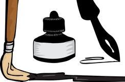 предметы чернил чертежа бесплатная иллюстрация