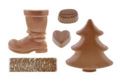 предметы шоколада Стоковые Изображения