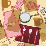 предметы 1 кухни домочадца иллюстрация штока