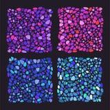 Предмет цвета стеклянный мозаика 4 окно запятнанное стеклами иллюстрация штока