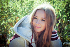 Предназначенная для подростков девушка Стоковые Фото