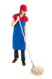 Предназначенная для подростков девушка Mopping - полное тело Стоковые Фотографии RF