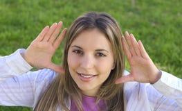 предназначенная для подростков женщина стоковое изображение