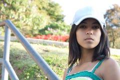 предназначенное для подростков афроамериканца серьезное Стоковые Изображения RF