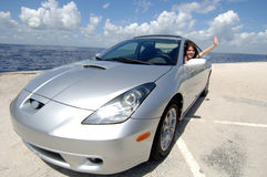предназначенное для подростков водителя автомобиля новое стоковое фото rf