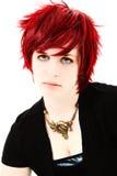 предназначенное для подростков волос девушки красное Стоковое Изображение