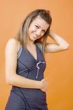 предназначенное для подростков девушки застенчивое Стоковое Изображение RF