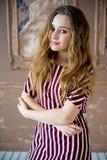 предназначенное для подростков девушки модельное Стоковое Изображение RF