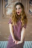 предназначенное для подростков девушки модельное Стоковые Изображения RF