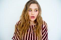 предназначенное для подростков девушки модельное Стоковое Изображение