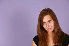 предназначенное для подростков девушки предпосылки lavendar Стоковое Изображение