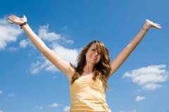 предназначенное для подростков девушки радостное Стоковое Изображение