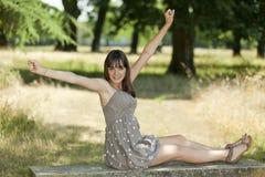 предназначенное для подростков девушки счастливое стоковое фото rf