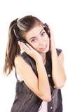 Предназначенное для подростков слушая нот Стоковая Фотография RF
