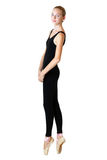 Предназначенный для подростков танцор балерины девушки в черном трикое Стоковое Изображение