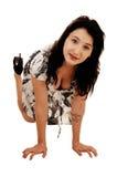 Предназначенный для подростков kneeling девушки. Стоковые Изображения RF