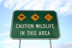 предостерегите дорожный знак Стоковое Фото