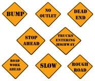 предостерегите знаки собрания Стоковые Изображения RF