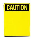 предостерегите знак Стоковое Фото
