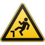 Предосторежение, возможное падение от высоты Внимание опасно больше моего знака портфолио подписывает предупреждение Меры безопас бесплатная иллюстрация