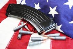 Предохранение от государственного флага США Стоковая Фотография