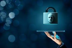 Предохранение от планшета идентификации стороны стоковое фото