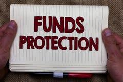 Предохранение от фондами сочинительства текста почерка Смысл концепции обещает вкладу инициала части возвращения к инвестору Мамы стоковые изображения