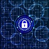Предохранение от цифров и предпосылка безопасностью - вектор Стоковые Изображения RF