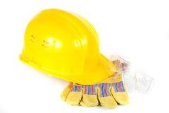 предохранение от шлема перчаток стекел Стоковая Фотография