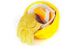 предохранение от шлема перчаток Стоковая Фотография RF