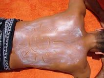 предохранение sunbathing Стоковые Фото
