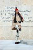 предохранитель Греции изменения athens греческий президентский Стоковое Фото