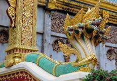 Предохранитель змейки дракона Naga в виске Wat в Таиланде Стоковые Изображения RF