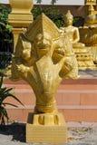 Предохранитель змейки дракона Naga Phaya в виске Wat в Таиланде Стоковые Фото