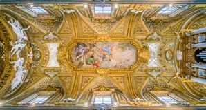 ` Предположения ` Calandrucci в своде церков ` Orto Dell Santa Maria, в Риме, Италия стоковые изображения