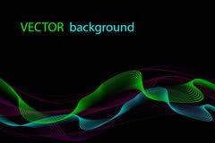 Предпосылка абстрактного вектора волнистая, ноча освещает, красочные накаляя кривые бесплатная иллюстрация